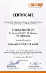 L'Orange certificaat